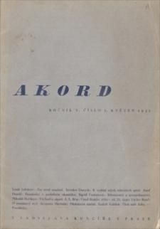 Akord. 1932, čislo 5, květen [maj]