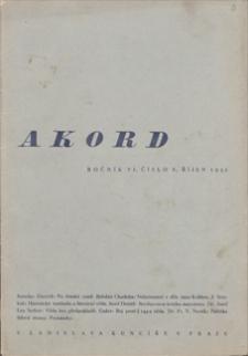 Akord. 1932, čislo 8, rijen [październik]