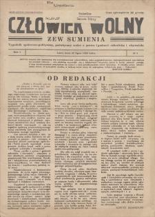 Człowiek Wolny. Zew Sumienia : tygodnik społeczno-polityczny, poświęcony walce o prawo i godność człowieka i obywatela. R. I, 1936, nr 1, 21 VII