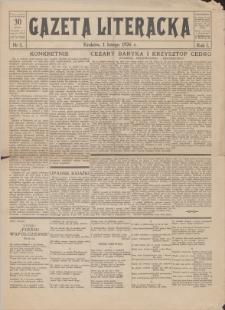 Gazeta Literacka : dwutygodnik. R. 1, 1926, nr 1, 1II