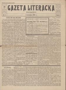 Gazeta Literacka : dwutygodnik. R. 1, 1926, nr 5, 1 IV