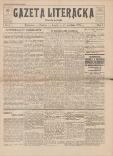 Gazeta Literacka : dwutygodnik. R. 1, 1926, nr 6, 15 IV
