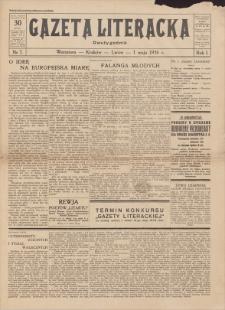 Gazeta Literacka : dwutygodnik. R. 1, 1926, nr 7, 1 V