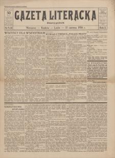 Gazeta Literacka : dwutygodnik. R. 1, 1926, nr 9-10, 15 VI