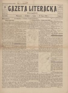 Gazeta Literacka : dwutygodnik. R. 1, 1926, nr 11-12, 15 VII