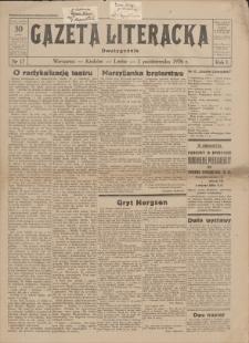 Gazeta Literacka: dwutygodnik. R. 1, 1926, nr 17, 1 X