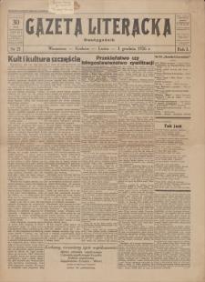 Gazeta Literacka : dwutygodnik. R. 1, 1926, nr 21, 1 XII