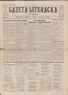 Gazeta Literacka : dwutygodnik. R. 2, 1927, nr 2 (23), 15 I