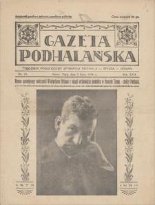 Gazeta Podhalańska : tygodnik poświęcony sprawom Podhala-Spisza-Orawy. R. 22, 1934, nr 20, 8 VII