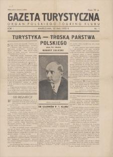 Gazeta Turystyczna : organ Polskiego Touring Klubu. R. 1, 1933, nr 1, 15 V