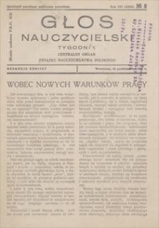 Głos Nauczycielski : tygodnik, Centralny Organ Związku Nauczycielstwa Polskiego. R. 16 (26), 1931, nr 8, 25 X