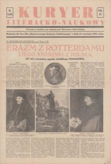 """Kurjer Literacko-Naukowy. Dodatek do nru 256 """"Ilustrowanego Kuryera Codziennego"""" z dnia 14 września 1936. R. 13, 1936, nr 37, 14 IX"""
