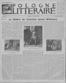 Pologne Litteraire : revue mensuelle. A. 3, 1928, nr 18 (15 mars)