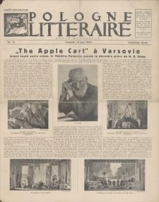 Pologne Litteraire : revue mensuelle. A. 4, 1929, nr 33 (15 juin)