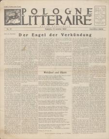 Pologne Litteraire : revue mensuelle. A. 4, 1929, nr 37 (15 octobre)