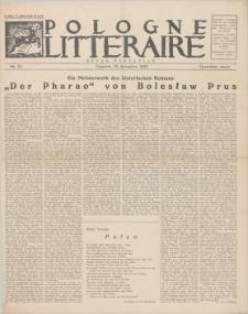 Pologne Litteraire : revue mensuelle. A. 4, 1929, nr 39 (15 décembre)