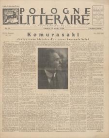 Pologne Litteraire : revue mensuelle. A. 4, 1929, nr 40 (15 janvier)