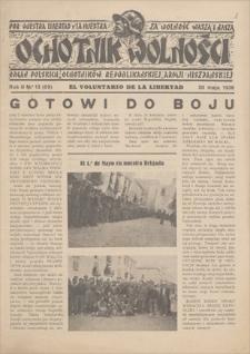 Ochotnik Wolności : organ Polskich Ochotników Republikańskiej Armii Hiszpańskiej. R. 2, 1928, nr 13 (69), 20 V