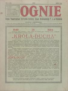 Ognie : organ Towarzystwa Szerzenia Słowa Drukowanego T. z. w Poznaniu. R. 2, 1925, nr 1(3)