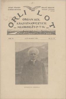 Orli Lot: organ Kół Krajoznawczych Młodzieży Polskiego Towarzystwa Krajoznawczego. R. 6, 1925, nr 2-3, luty-marzec