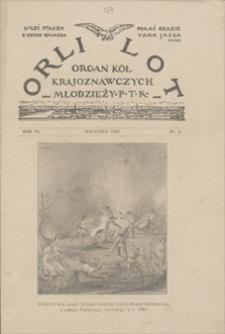 Orli Lot: organ Kół Krajoznawczych Młodzieży Polskiego Towarzystwa Krajoznawczego. R. 6, 1925, nr 4, kwiecień