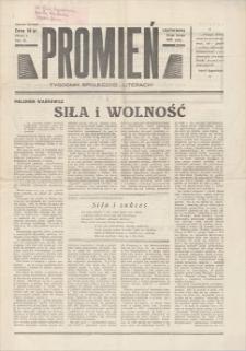 Promień : tygodnik społeczno-literacki. R. I, 1939, nr 6, 26 II