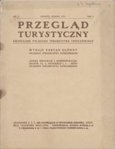 Przegląd Turystyczny : kwartalnik Polskiego Towarzystwa Tatrzańskiego. R. 1, 1925, nr 1, marzec