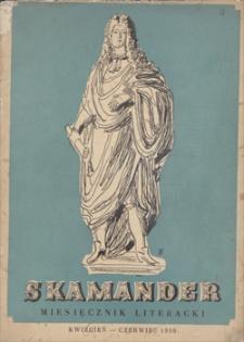 Skamander : miesięcznik poetycki. R. 12 (t. 12), 1938, z. 93-95, kwiecień-czerwiec