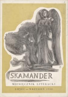 Skamander : miesięcznik poetycki. R. 12 (t. 12), 1938, z. 96-98, lipiec-wrzesień
