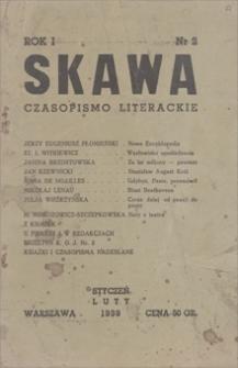 Skawa : czasopismo literackie. R.1, 1939, nr 2, styczeń-luty
