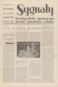 Sygnały : dwutygodnik, sprawy społeczne, literatura, sztuka. R. 5, 1938, nr 56, 1 XI