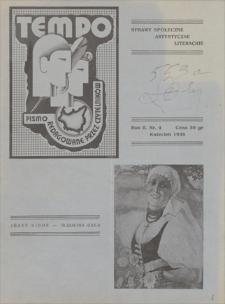 Tempo : pismo redagowane przez czytelników : sprawy społeczne, artystyczne, literackie. R. 2, 1938, nr 4, kwiecień
