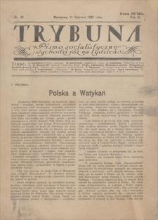 Trybuna : pismo socjalistyczne. R. 3, 1921, nr 23, 11 VI