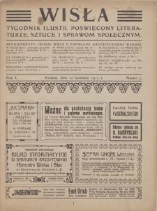 Wisła : tygodnik ilustrowany poświęcony literaturze, sztuce i sprawom społecznym. R. 1, 1912, nr 3, 20 IV