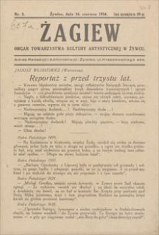 Żagiew : organ Towarzystwa Kultury Artystycznej w Żywcu. 1934, nr 2, 10 VI