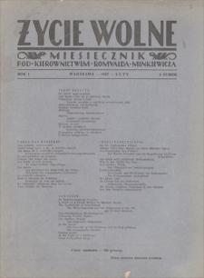 Życie Wolne : miesięcznik pod kierownictwem Romualda Minkiewicza. R. 1, 1927, nr 2, luty