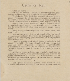 Życie Teatru : tygodnik poświęcony polskiej kulturze teatralnej. R. 2 lub 4, 1924 lub 1926, nr 1