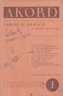 Akord. R. 3, 1930, čislo 1, ledna [styczeń]