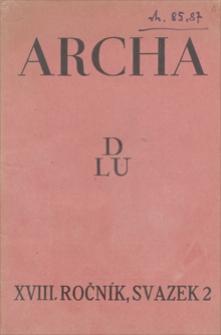 Archa. R. 18, [1930], svazek 2