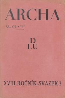 Archa. R. 18, [1930], svazek 3