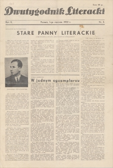 Dwutygodnik Literacki. R. 2, 1932, nr 2, 1 I
