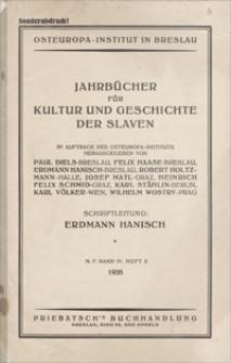 Jahrbücher für Kultur und Geschichte der Slaven. 1928, band 4, heft 2