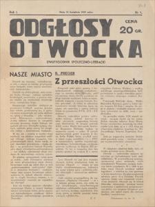 Odgłosy Otwocka : dwutygodnik społeczno-literacki. R. 1, 1939, nr 1, 23 IV