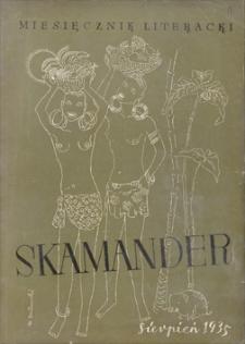 Skamander : miesięcznik poetycki. R. 9 (t. 9), 1935, z. 61, sierpień