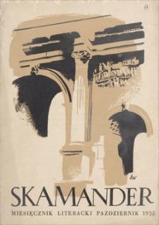 Skamander : miesięcznik poetycki. R. 9 (t. 9), 1935, z. 63, październik