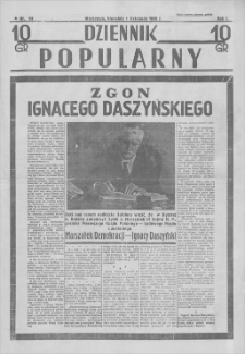Dziennik Popularny. R. 1, 1936, nr 18, 1 XI