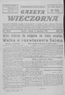 Gazeta Wieczorna. R. 12, 1921, nr 5870, 11 VI