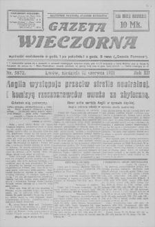 Gazeta Wieczorna. R. 12, 1921, nr 5872, 12 VI