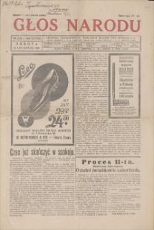 Głos Narodu. R. 38, 1931; nr 308, 14 XI