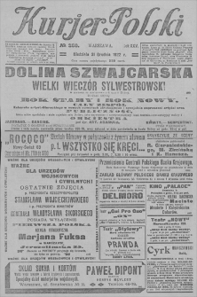 Kurjer Polski. R. 25, 1922, nr 356, 31 XII